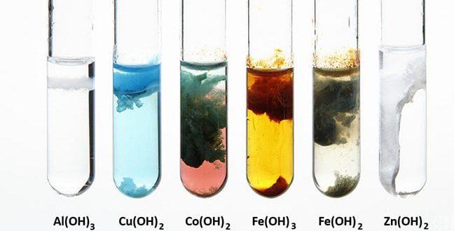 Màu sắc của một số chất kết tủa và chất khí thường gặp trong hóa học